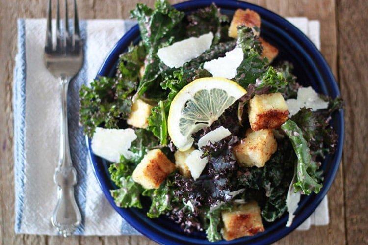 Kale-Caesar-Salad-with-Tofu-Croutons-and-Kalamata-Caesar-Dressing
