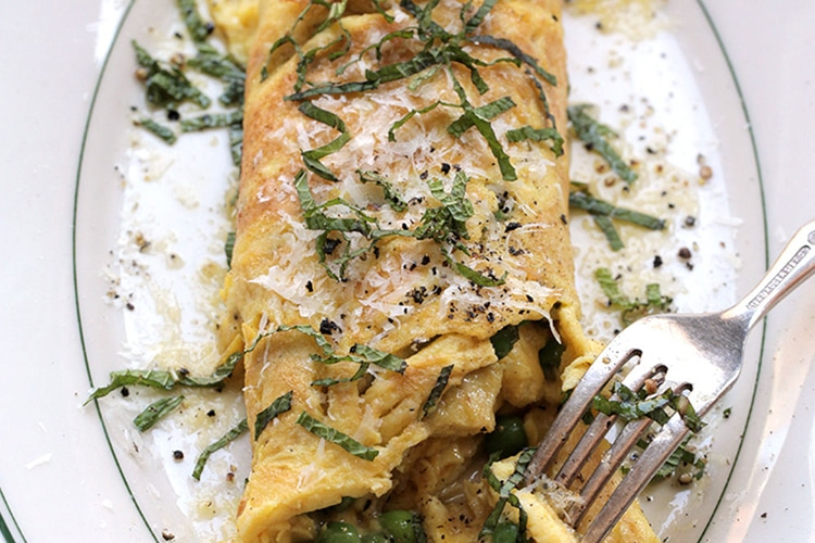 brown-butter-peas-omelette