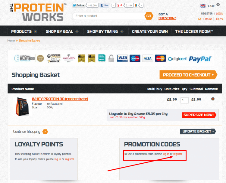 The Protein Works Basket