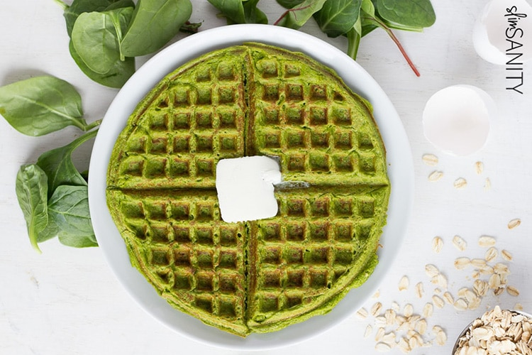Spinach-Protein-Waffles