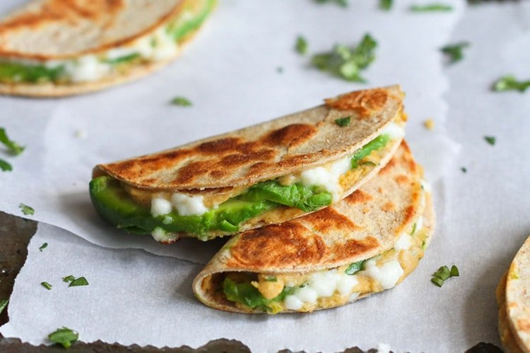 avocado-and-hummus-quesadillas