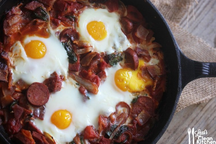 bacon-chorizo-baked-eggs