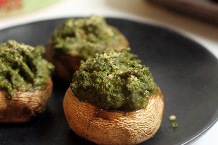 basil-hummus-stuffed-mushrooms