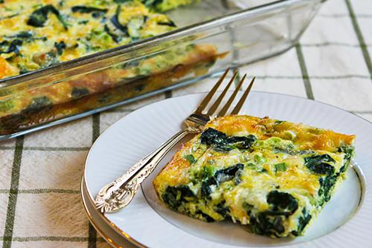 spinach-mozzarella-egg-bake