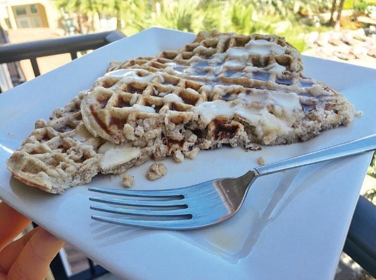 Cinnamon and egg waffles