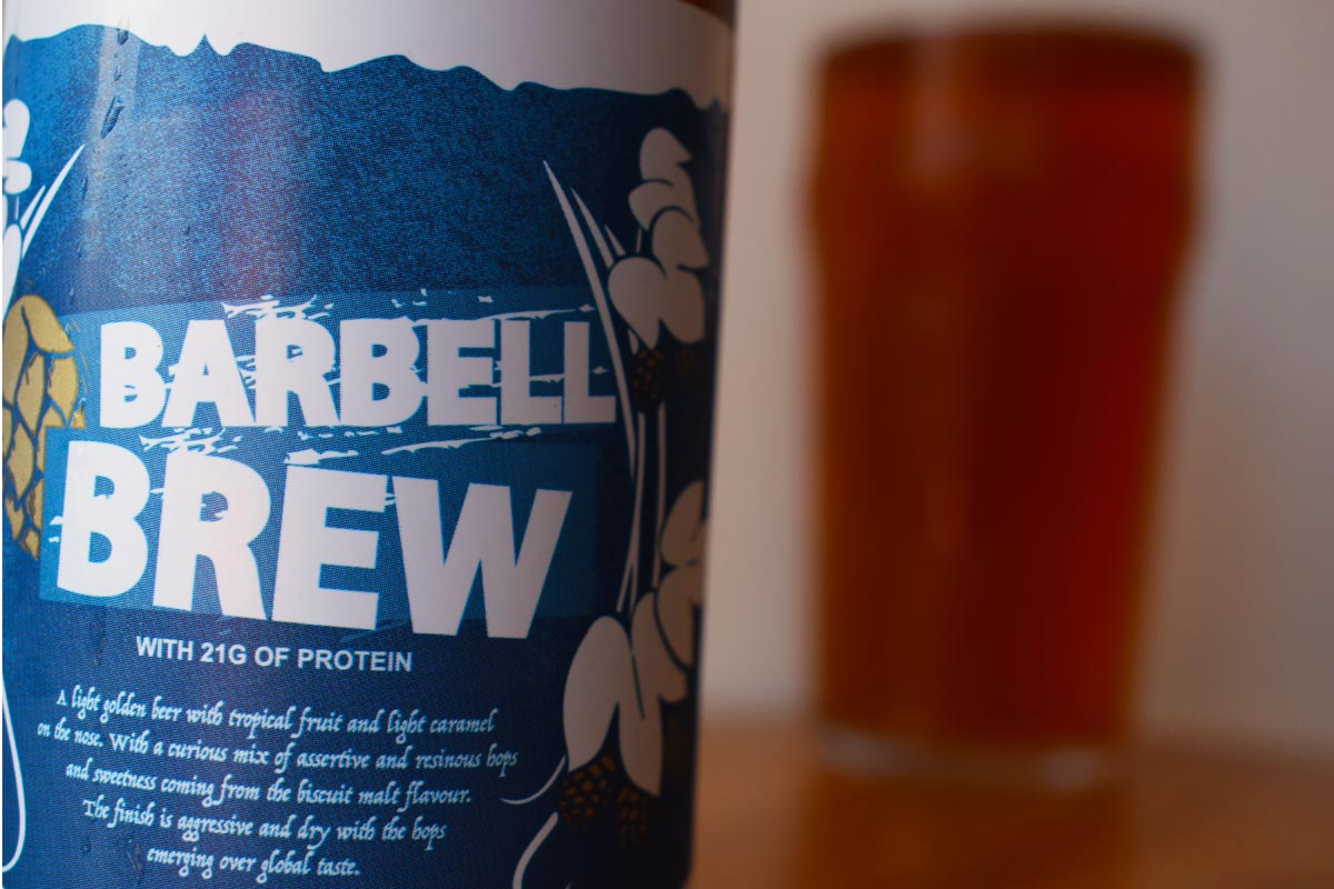 Musclefood Barbell Brew Protein Beer