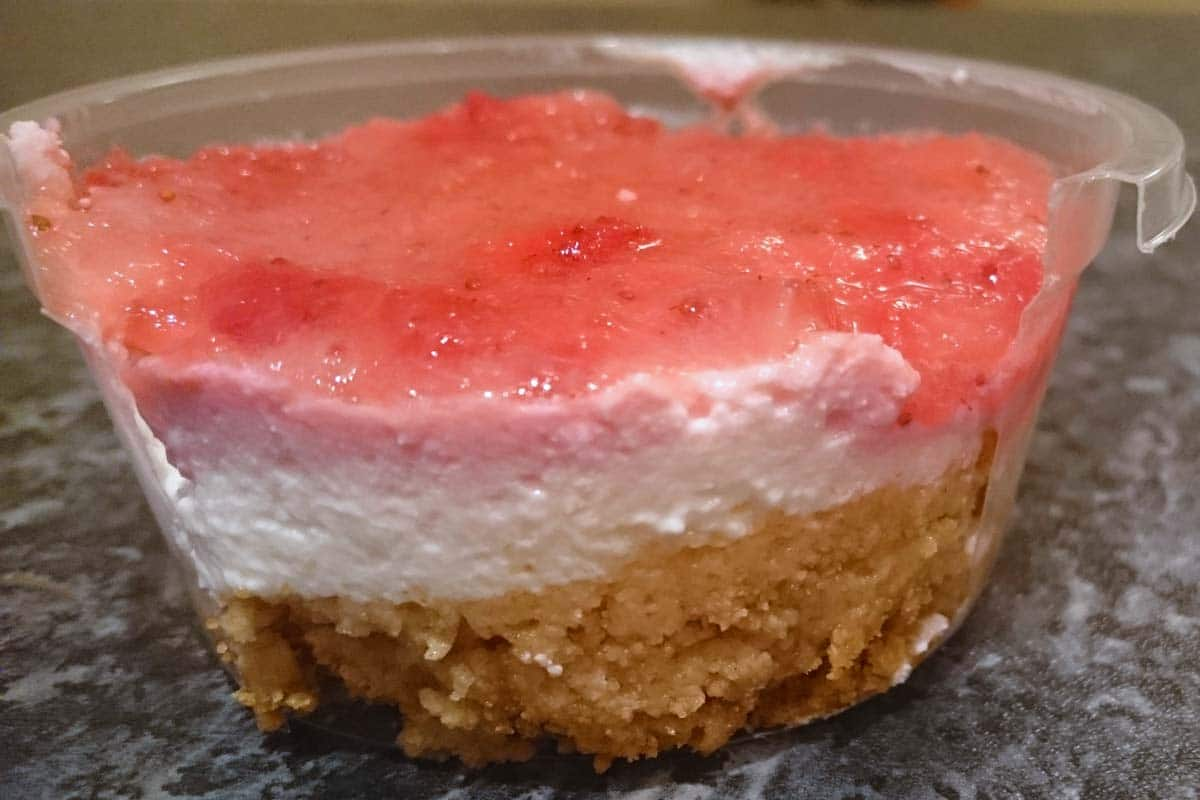 strawberry-protein-cheesecake