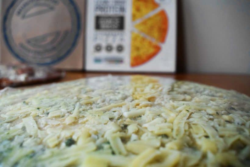 high protein garlic pizza