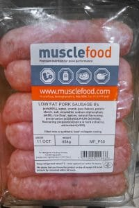 Musclefoods Low fat sausages