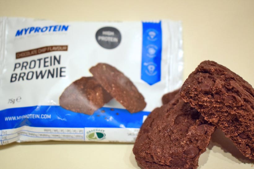 Protein Brownie and Protein Cookie from MyProtein
