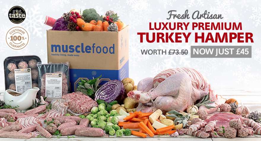 Turkey hamper christmas musclefood