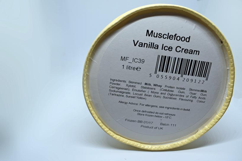 Musclefood High Protein vanilla ice Cream