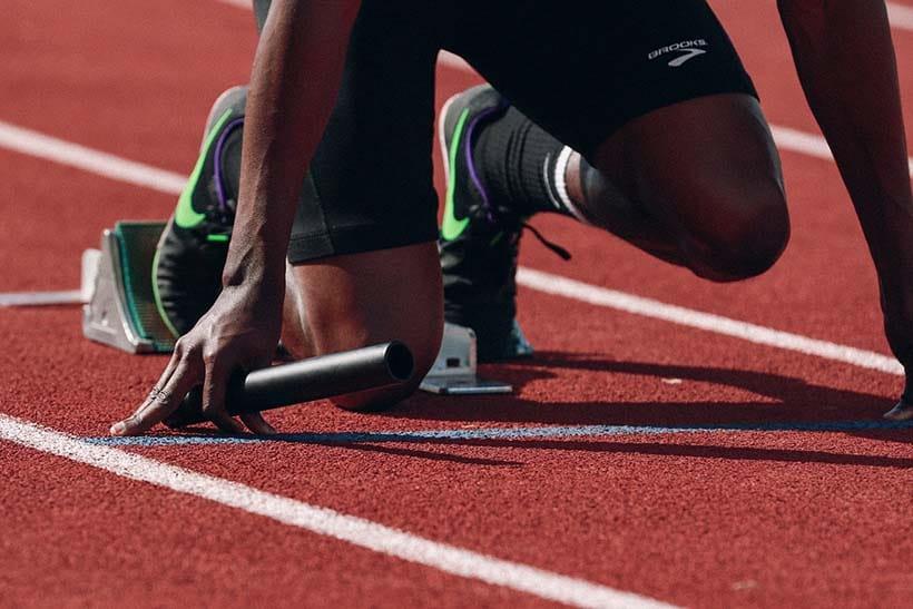 powerful athlete