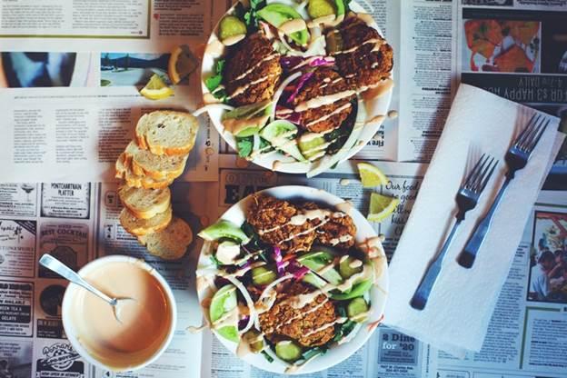 Health-ified Mushroom Po' Boy Salad
