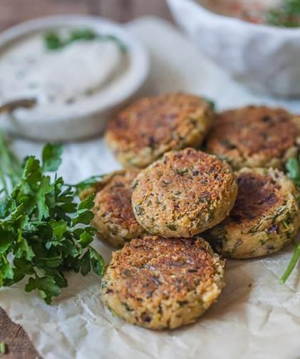 Healthier Pan-Fried Falafel