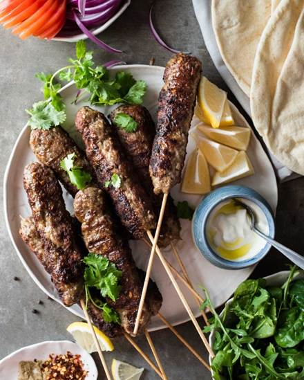 Turkish Lamb Kebab Koftas