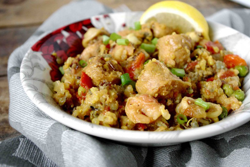 7.  Easy Slow-Cooker Paella (Gluten Free)
