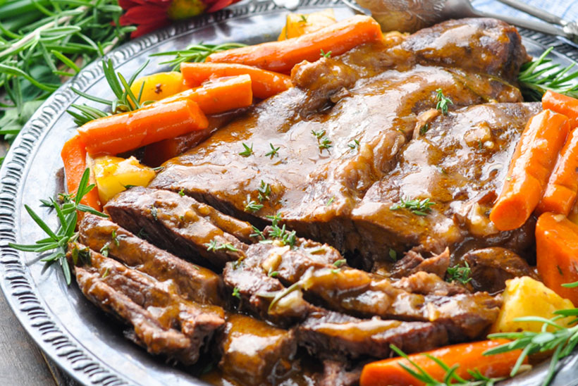 8.  Classic Oven or Slow Cooker Pot Roast