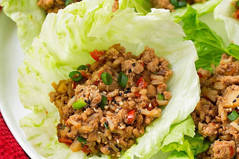 10.  Slow Cooker Asian Chicken Lettuce Wraps