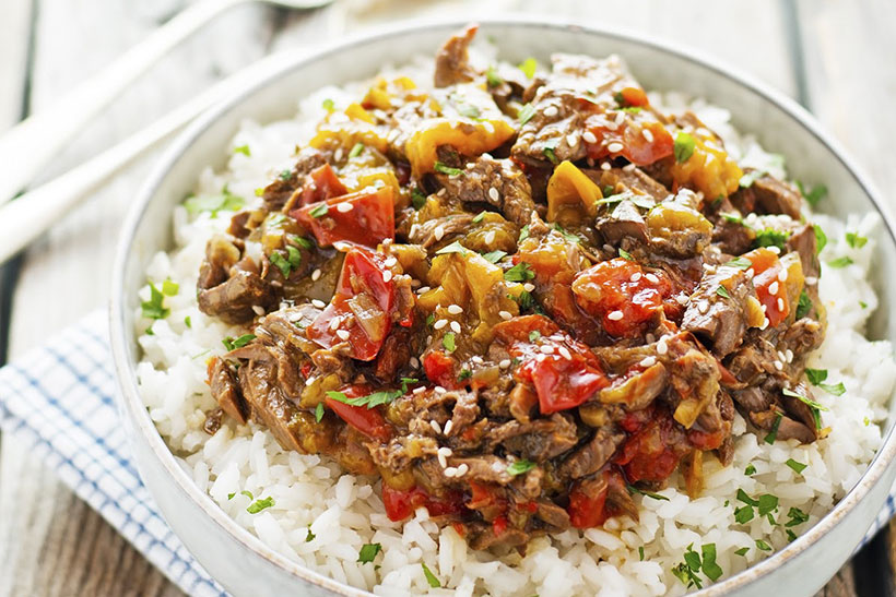 15.  Crock Pot Pepper Steak