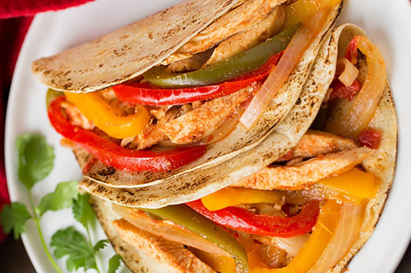 16.  Slow Cooker Chicken Fajitas