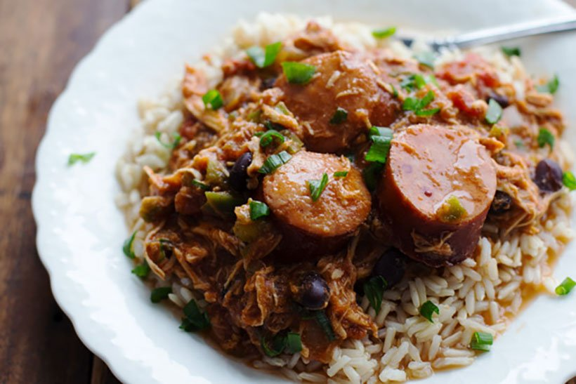 18.  Slow Cooker Creole Chicken and Sausage