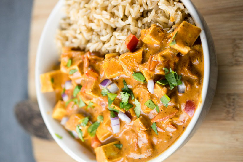 20.Slow Cooker Tofu Tikka Masala