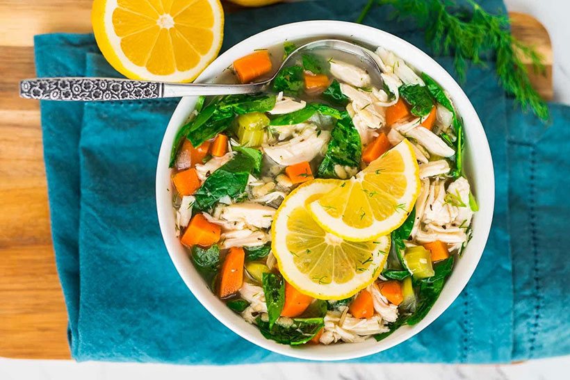 24.  Lemon Chicken Orzo Soup