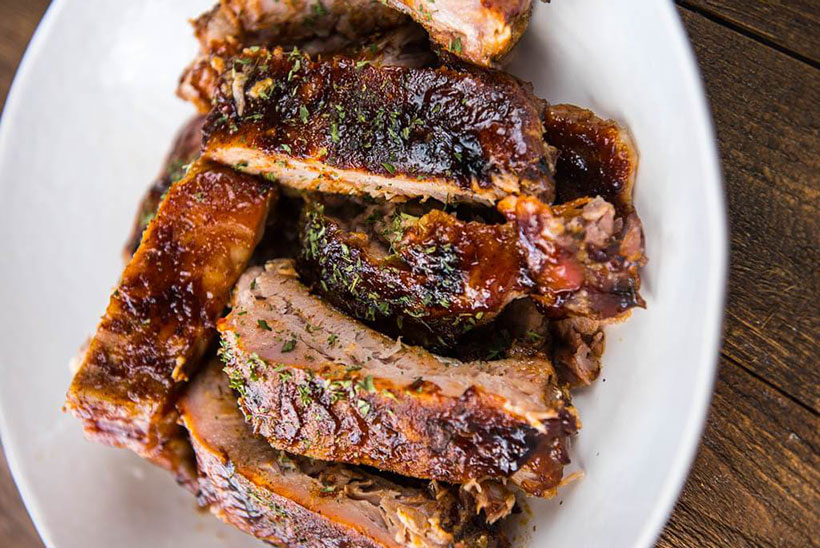 26.  Slow Cooker BBQ Ribs