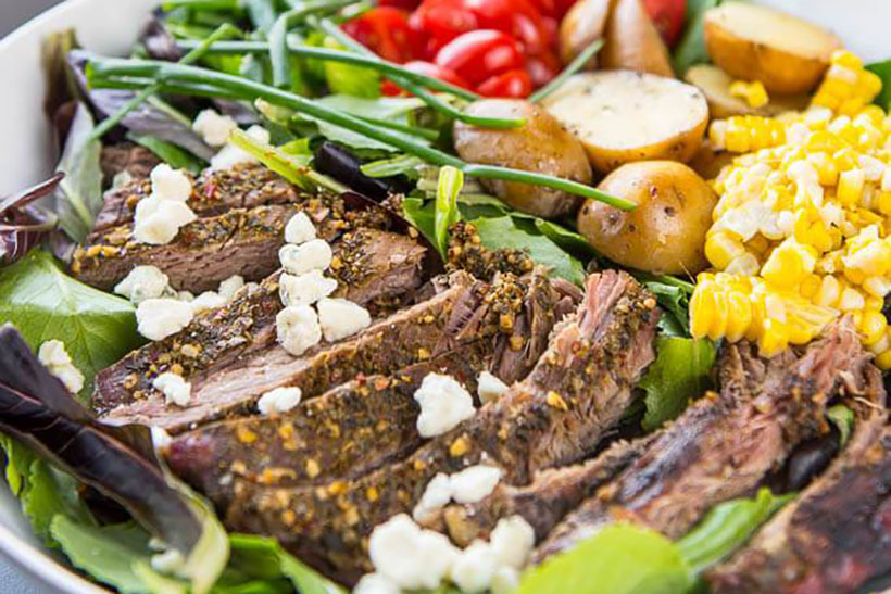 27.  Slow Cooker Hearty Steak Salad