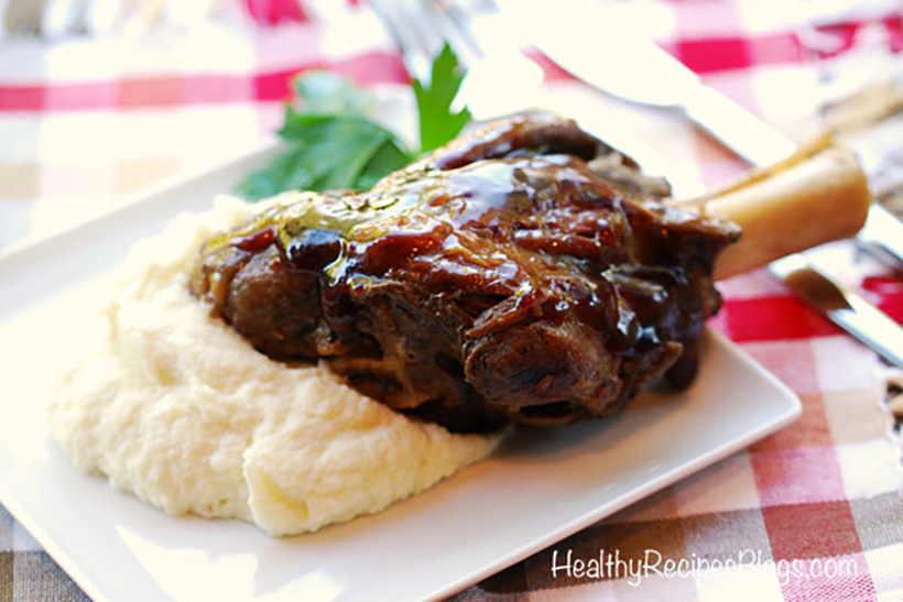 31.  Slow Cooker Lamb Shanks