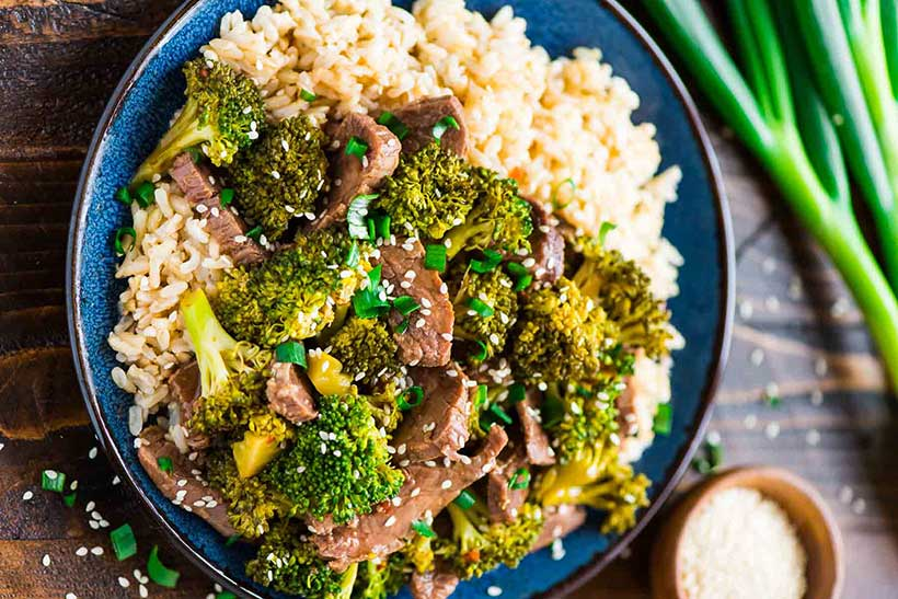 35.  Slow Cooker Beef and Broccoli