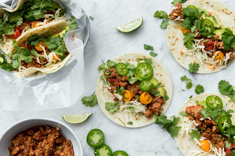 46.  Amazing Slow Cooker Turkey Tacos