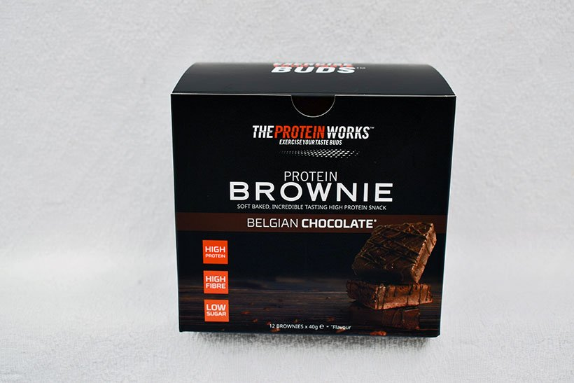 The protein works chocolate brownie box