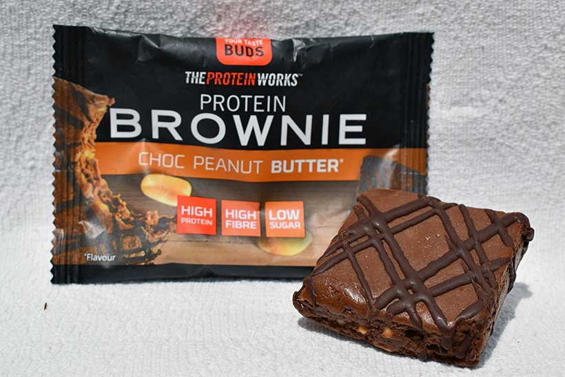 The protein works chocolate peanut protein brownie