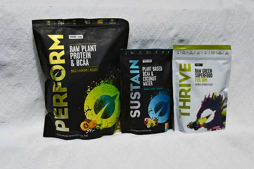 vivolife products - perform sustain thrive